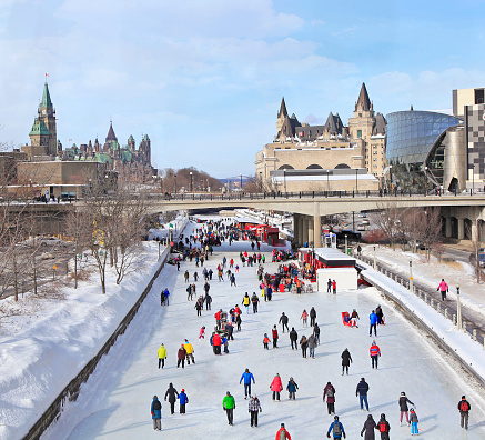 Rideau Canal Ice Skating Rink in winter, Ottawa 1129426091