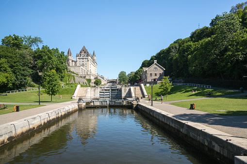 Rideau Canal Locks in Ottawa Ontario Canada 830692078