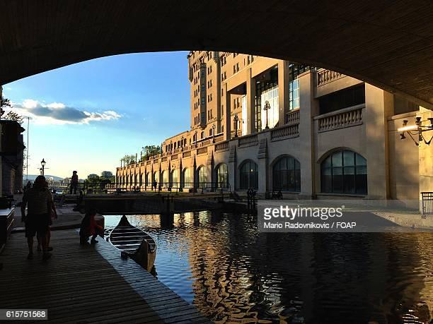 rideau canal, ottawa, canada. - リドー運河 ストックフォトと画像