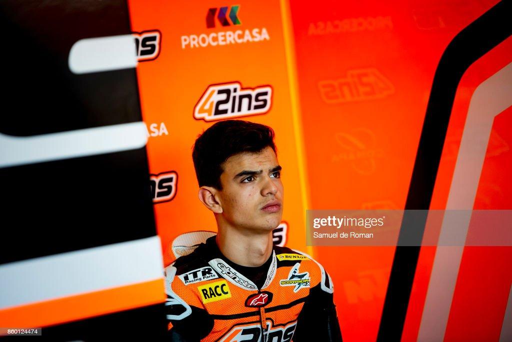 Rider Aleix Viu during Moto3 Junior World Championship in