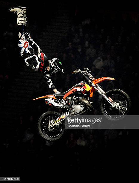 FMX rider at Nitro Circus Live at Manchester Arena on December 4 2012 in Manchester England