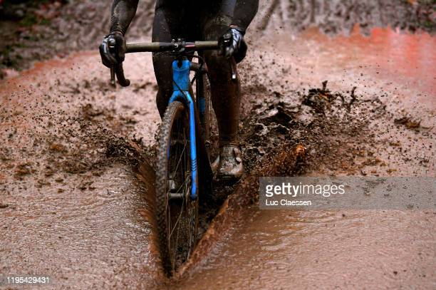 Rider / Bike / Mud / Detail view / during the 11th Namur World Cup 2019 / @UCI_CX / #TelenetUCICXWC / on December 22, 2019 in Namur, Belgium.