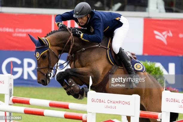 Rider competes during MadridLongines Champions the International Global Champions Tour at Club de Campo Villa de Madrid on May 17 2019 in Madrid Spain