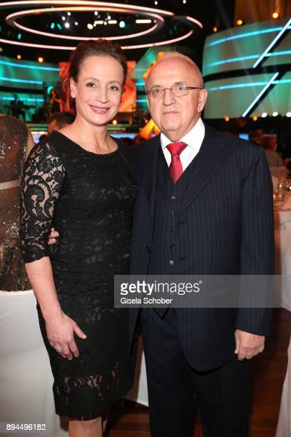 Rider Isabell Werth and her husband Wolfgang Urban during the 'Sportler des Jahres 2017' Gala at Kurhaus Baden-Baden on December 17, 2017 in...