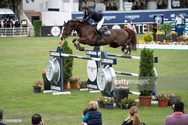 Rider participates in the 110th edition of the Madrid 5 * International Show Jumping Competition , which is part of the Longines Global Champions...