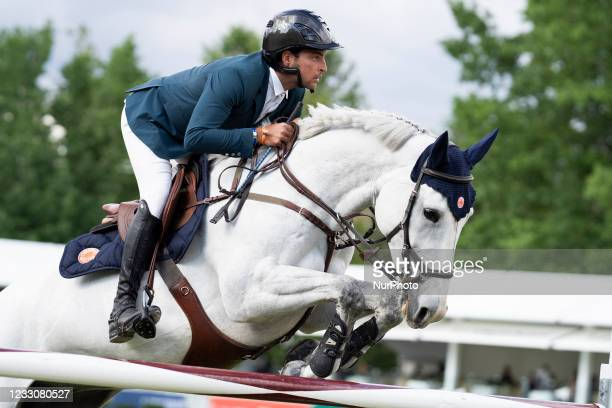 Rider participates in the Equestrian King's Cup, which is part of the Longines Global Champions Tour equestrian CSI 5, at the Villa de Madrid Country...