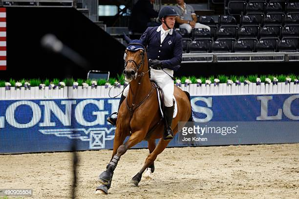 Rider Scott Brash attends 2nd Annual Longines Masters Of Los Angeles at Los Angeles Convention Center on October 1 2015 in Los Angeles California