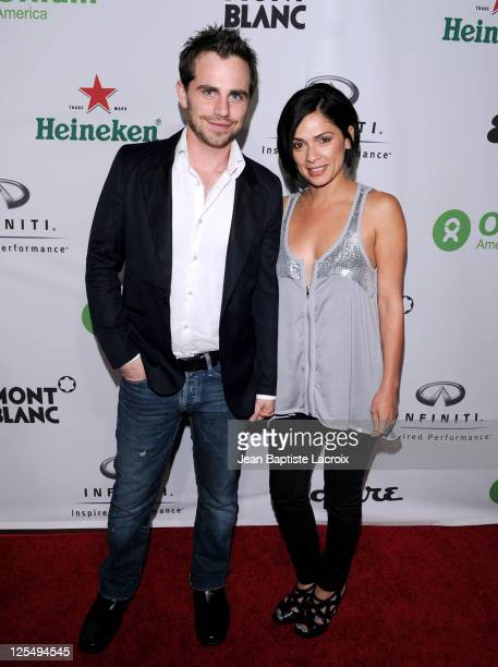 Rider Strong and Alexandra Barreto arrive at 'The Oxfam Party' hosted by Oxfam America and Esquire House LA held at Esquire House Estates on November...