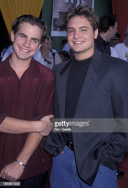Rider Strong and Will Friedle attend the world premiere of 'Toy Story 2' on November 13 1999 at the El Capitan Theater in Hollywood California