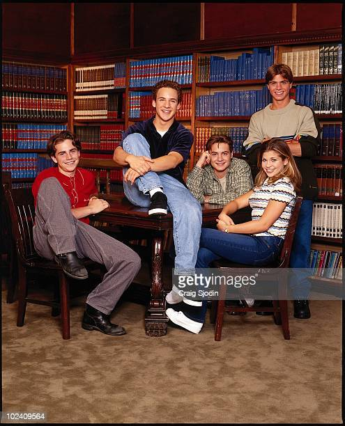 WORLD Rider Strong Ben Savage Will Friedle Danielle Fishel and Matthew Lawrence star in the popular TGIF comedy series BOY MEETS WORLD airing on the...