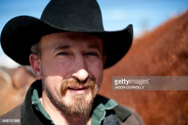 Rider Will James of Primrose Colorado waits for the start of the 68th annual Leadville Ski Joring weekend competition on Saturday March 4 2017 in...