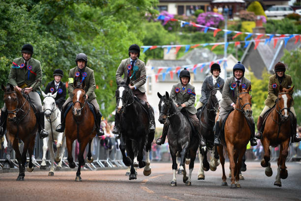GBR: Scottish Borders Tradition Of Common Riding Takes Place In Selkirk