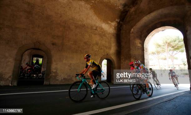 Riders compete during the stage four of the 102nd Giro d'Italia - Tour of Italy - cycle race, 235kms from Orbetello to Frascati on May 14, 2019.