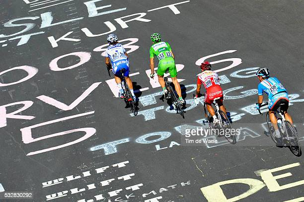 Riders during stage 17 of the 2008 Tour de France between Embrun and L'AlpeD'Huez
