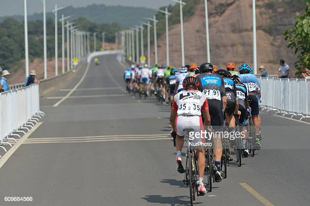 Riders during the 116km Liling Circuit Race third stage of the 2016 Tour of China 2 On Thursday 22 September 2016 in Liling Hunan province China