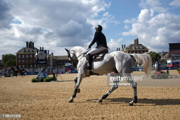 Riders during the Longines Global Champions Tour of London 2019 at Royal Hospital Chelsea on August 02, 2019 in London, England.