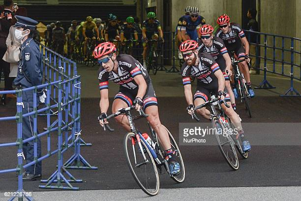Riders from GiantAlpecin Team lead the pelton during the main Race a 57km on a circuit at the fouth edition of the Tour de France Saitama Criterium...