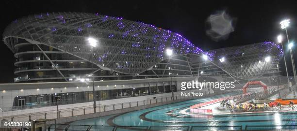 Riders in action during the fourth stage a 143km Yas Island Stage at the F1 Yas Marina circuit On Sunday February 26 in Yas Marina Island Abu Dhabi...