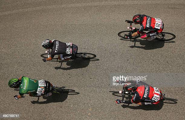 Riders in action during the sixth stage of the 2014 Giro d'Italia, a 257km medium mountain stage between Sassano and Montecassino on May 15, 2014 in...