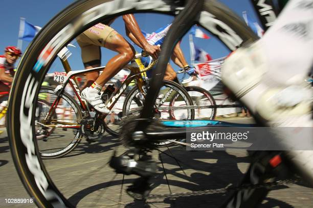 Riders make their way along the 179km Stage 10 of the Tour de France on July 14 2010 in Gap France The route from Chambery to Gap features a number...