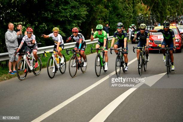 Riders of Colombia Colombia's Jarlinson Pantano Colombia's Sergio Henao Colombia's Darwin Atapuma Colombia's Rigoberto Uran Colombia's Carlos...
