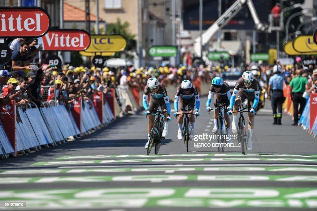 CYCLING-FRA-TDF2018-LINE : News Photo