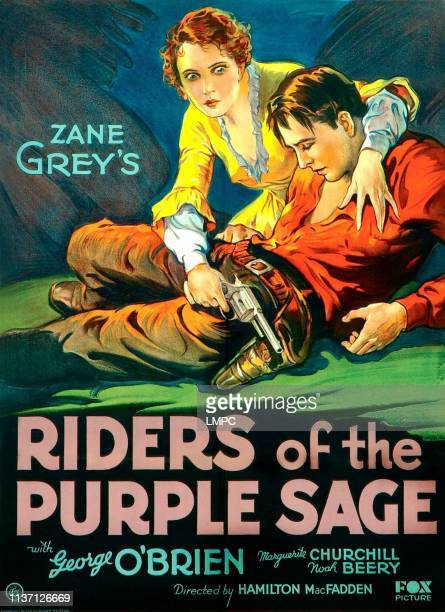 Riders Of The Purple Sage poster from top on US poster art Marguerite Churchill George O'Brien 1931