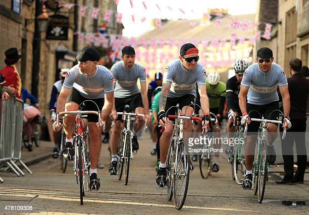 Riders start the 100 mile route of the Eroica Britannia on June 21 2015 in Bakewell England Eroica Britannia is a vintage cycling festival following...