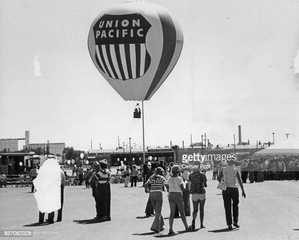 Rides in this balloon were popular during Union Pacific's Family Day Outing Credit Denver Post