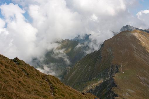 Ridge of Moldoveanu peakFagaras Mountains, Romania - gettyimageskorea