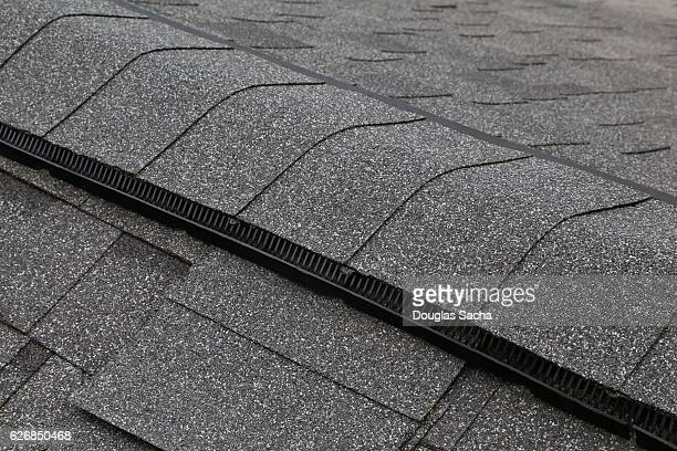 Ridge Vent on a Building Roof