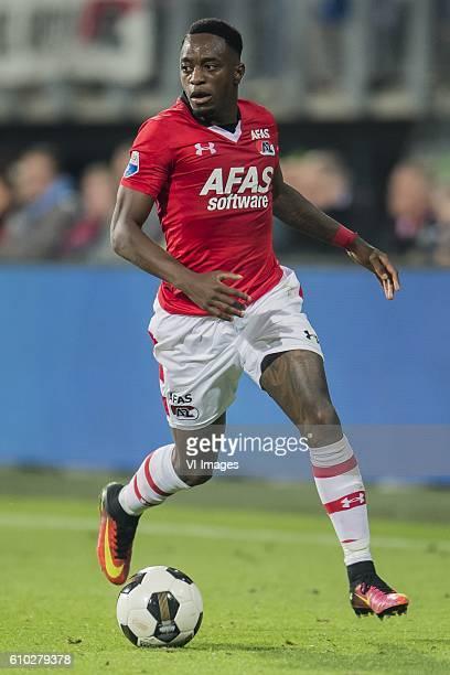 Ridgeciano Haps of AZ Alkmaar during the Dutch Eredivisie match between AZ Alkmaar and Go Ahead Eagles at AFAS stadium on September 24 2016 in...
