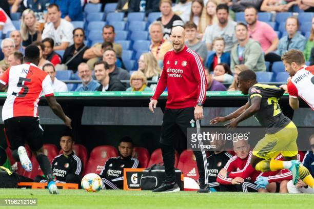 Ridgeciano Haps of Feyenoord coach Jaap Stam of Feyenoord Michael Obafemi of Southampton FC JanArie van der Heijden of Feyenoord during the Preseason...