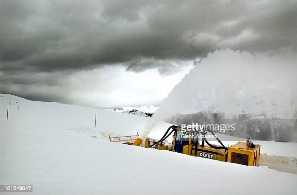 RIDGERudy Marquez uses a rotary snowplow to clear away snow along Trail Ridge Road in Rocky Mountain National Park Snow drifts of up to 21 feet have...