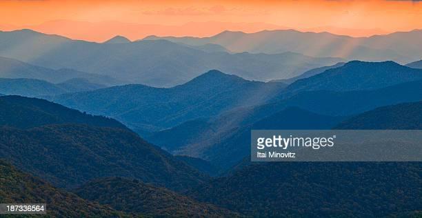 Ridges on the blue ridge parkway