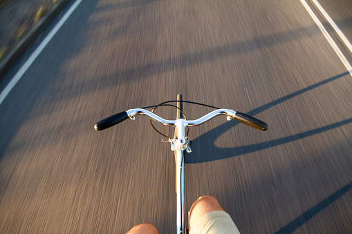 Riding a Road Bike Without Hands - gettyimageskorea