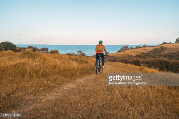 Riding along the coast.