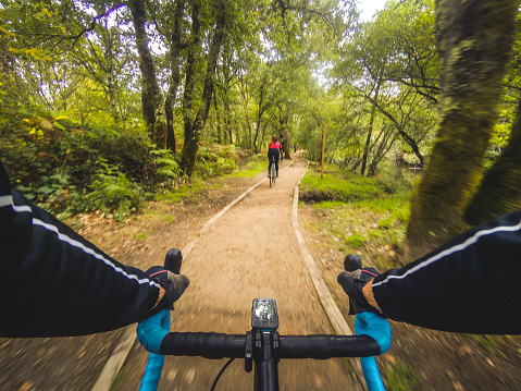 Riding along the cycle path of the Tea river - gettyimageskorea