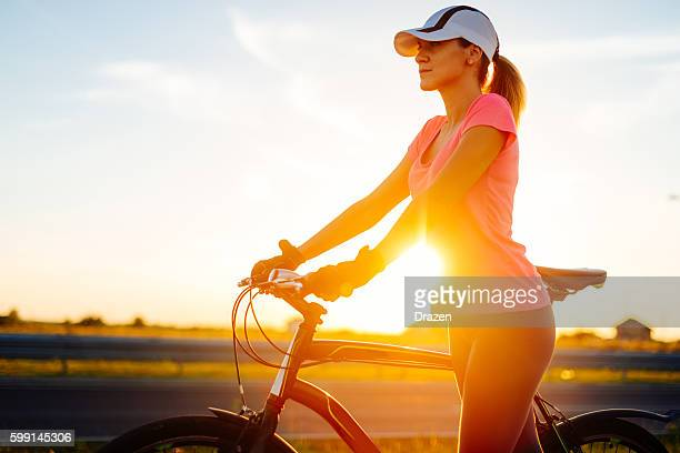 Riding bicycle for health and fit body