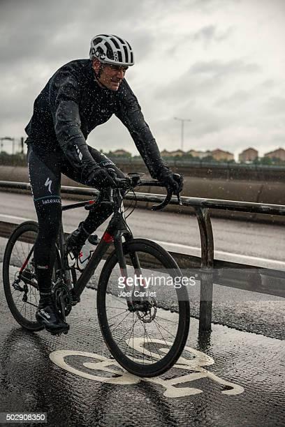 Riding bike in rain - Stockholm, Sweden
