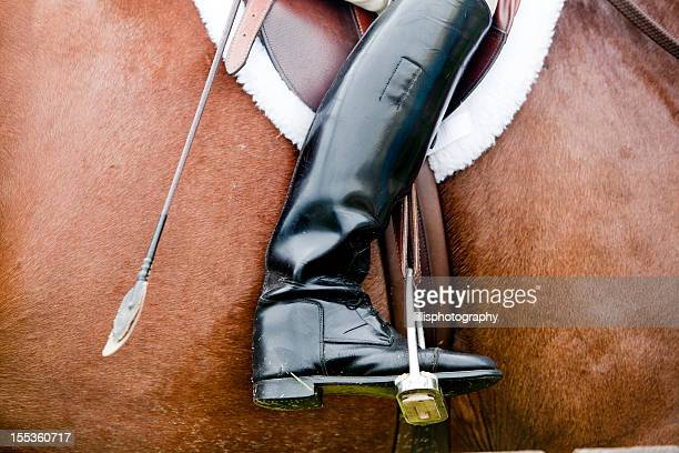riding boot in horse competition - riding boot stock pictures, royalty-free photos & images