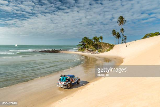 riding buggy bugre offroad in genipabu beach natal - brazil stock pictures, royalty-free photos & images