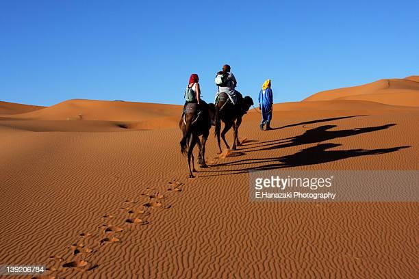 Riding camel back