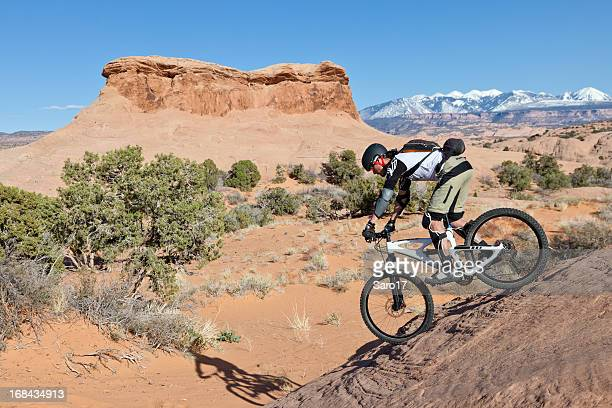 Riding down to the sand, Moab, Utah
