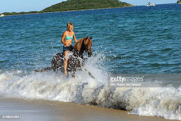 Riding Horses on the beach Vieques PR