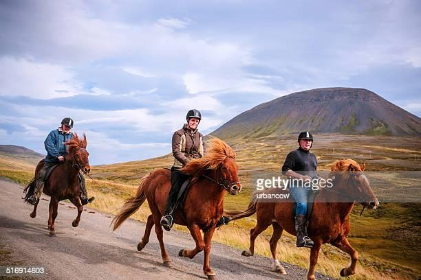 Riding Icelandic Ponies