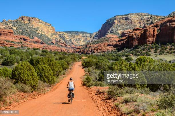 riding in red rock country - sedona stock photos and pictures