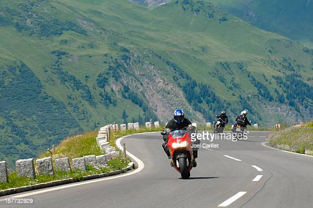 Motorcycles in the mountains