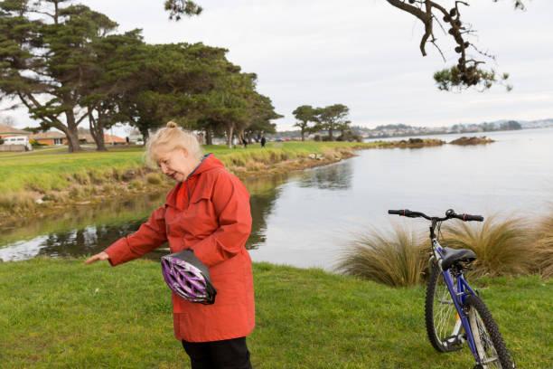 Riding my bike for senior womans health!