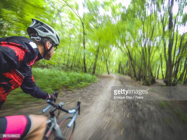riding on the path, hoddesdon, england - nature reserve stock pictures, royalty-free photos & images
